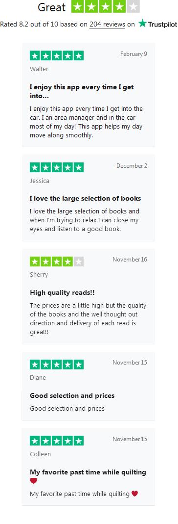 AudiobooksNow Reviews
