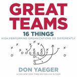Great Teams 16 Things High Performing Organizations Do Differently, Don Yaeger