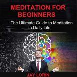 Meditation for Beginners:  The Ultimate Guide to Meditation in Daily Life, Jay Lorin