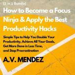 How to Become a Focus Ninja & Apply the Best Productivity Hacks: Simple Tips to Help You Double Your Productivity, Achieve All Your Goals, Get More Done in Less Time, and Stop Procrastination (2 in 1 Bundle), A.V. Mendez