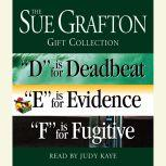 """Sue Grafton DEF Gift Collection """"D"""" Is for Deadbeat, """"E"""" Is for Evidence, """"F"""" Is for Fugitive, Sue Grafton"""