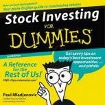 Stock Investing for Dummies 2nd Ed., Paul Mladjenovic