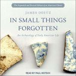 In Small Things Forgotten An Archaeology of Early American Life, James Deetz