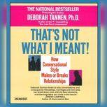 That's Not What I Meant, Deborah Tannen