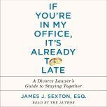 If You're in My Office, It's Already Too Late A Divorce Lawyer's Guide to Staying Together, James J. Sexton