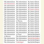 The Information A History, a Theory, a Flood, James Gleick