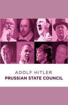 Prussian State Council Adolf Hitler Speech, Adolf Hitler