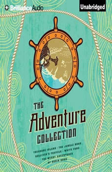 The Adventure Collection: Treasure Island, The Jungle Book, Gulliver's Travels, White Fang, The Merry Adventures of Robin Hood, Jonathan Swift