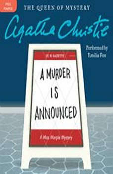 A Murder Is Announced: A Miss Marple Mystery, Agatha Christie