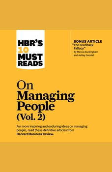 HBR's 10 Must Reads on Managing People, Vol. 2, Harvard Business Review