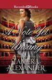 A Note Yet Unsung, Tamera Alexander