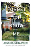 Forget You Know Me A Novel, Jessica Strawser