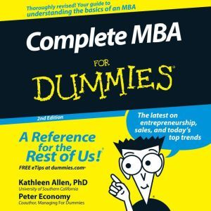 Complete MBA For Dummies 2nd Edition, PhD Allen