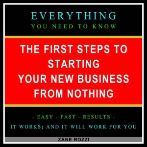 The First Steps to Starting Your New Business From Nothing Volume 1 Start Your Dream Business Now Even if You Are in Debt and Making Minimum Wage, Zane Rozzi